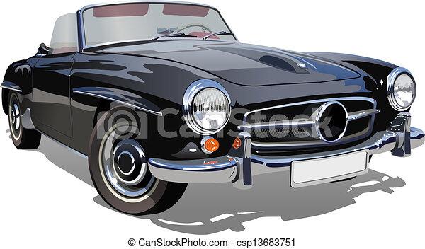 retro sport car - csp13683751