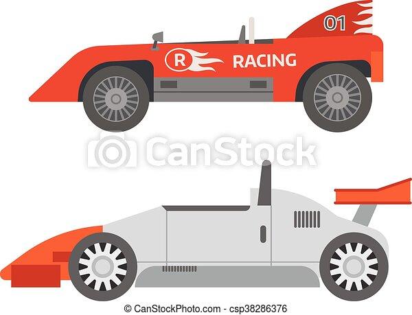 Retro sport car vector. - csp38286376