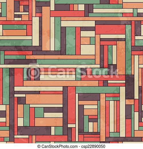 retro square seamless pattern with grunge effect - csp22890050