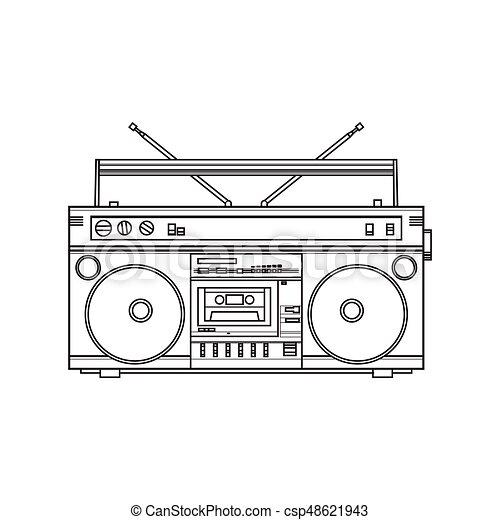 Old fashioned retro style audio tape recorder ghetto boom eps retro style audio tape recorder ghetto boom box from 90s vector sciox Gallery