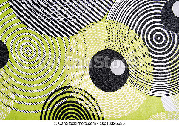 retro style fabric texture with circles - csp18326636