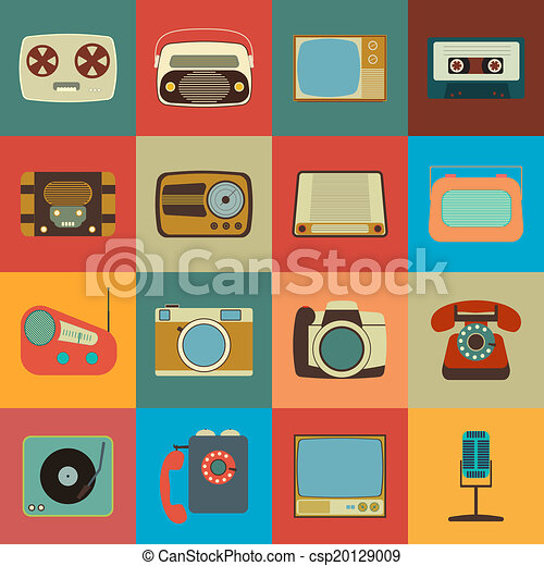 Retro Style Media Icons - csp20129009