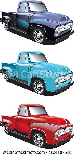 Retro style pickup - csp4187528