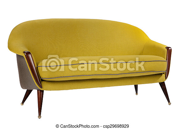 Sensational Retro Style Sofa Sixties Style Antique Mustard Yeallow Colour Machost Co Dining Chair Design Ideas Machostcouk