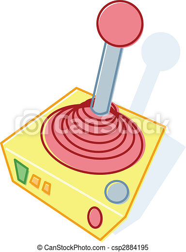 Retro style toy joystick illustration - csp2884195