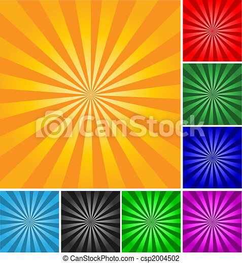 Retro style vector abstract background. Different colors and gradients. - csp2004502
