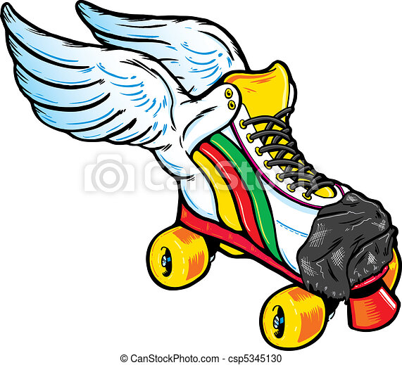 Retro Style Winged Roller Skate - csp5345130