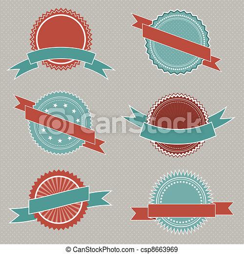 Retro styled badges - csp8663969