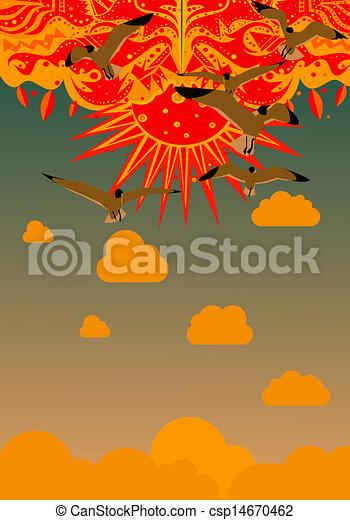 Retro Sun - csp14670462
