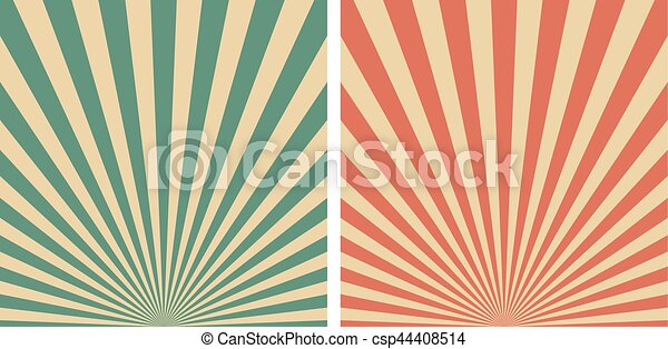 Retro sunrise sun rays vector template background. Vintage ...