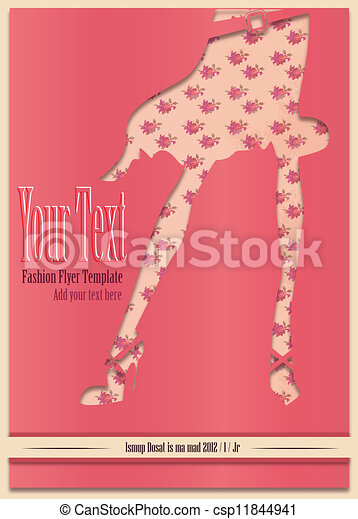 Retro sweet poster flyer pink - csp11844941