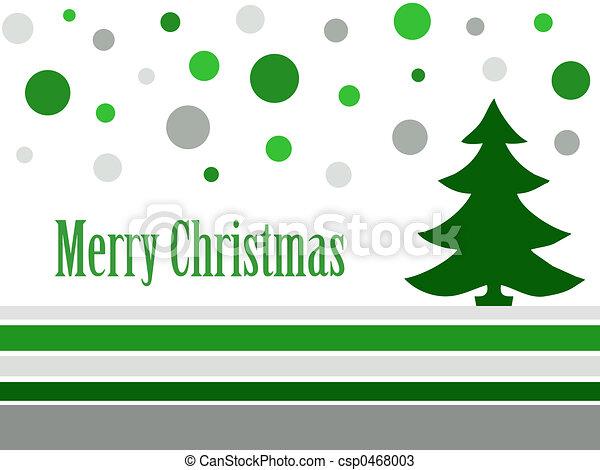 Retro tarjeta de Navidad - csp0468003