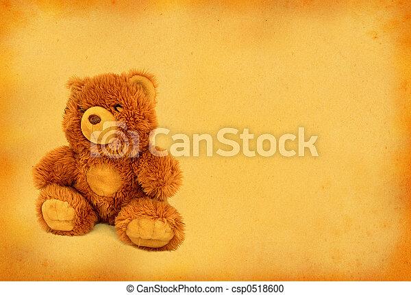 retro teddy bear - csp0518600