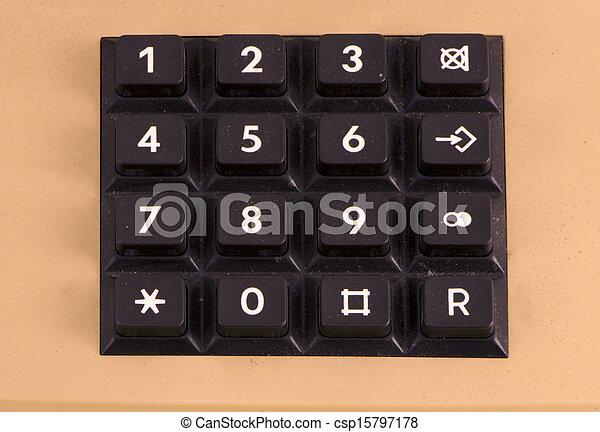 retro telephone keyboard numbers - csp15797178