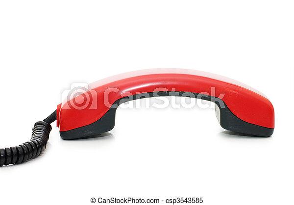 Retro telephone receiver isolated on white background - csp3543585