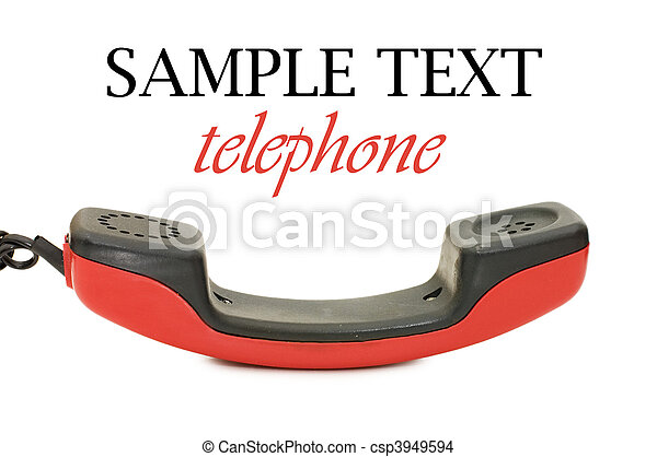 Retro telephone receiver isolated on white background - csp3949594