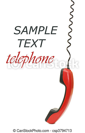 Retro telephone receiver isolated on white background - csp3794713