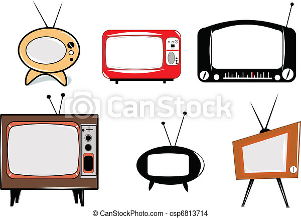 retro televisions - csp6813714