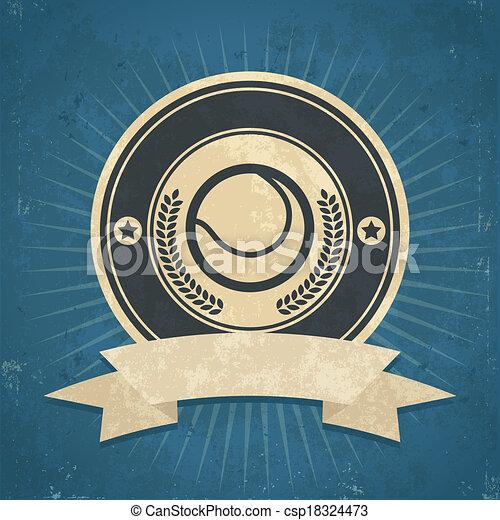 Retro Tennis Ball Emblem - csp18324473