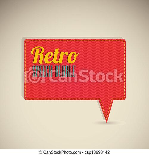 retro text balloons - csp13693142
