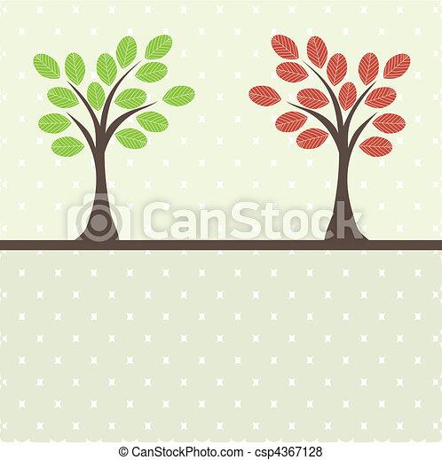 Retro tree . vector illustration - csp4367128