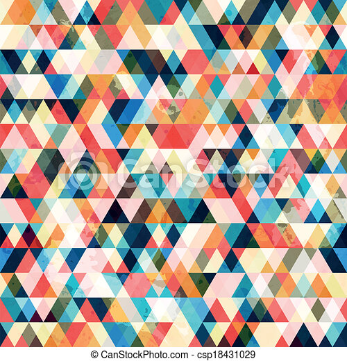 retro triangle seamless pattern - csp18431029