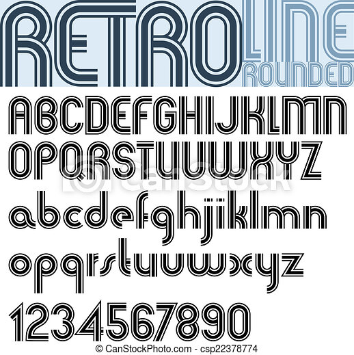 Retro Triple Line Stripes Font Pattern Old Style Alphabet Best For Use As A Headlines In Advertising Stylish Graphic Designs Posters And Web