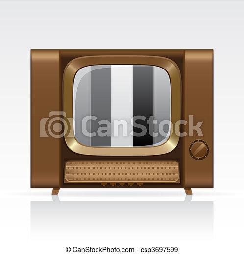 Retro tv - csp3697599
