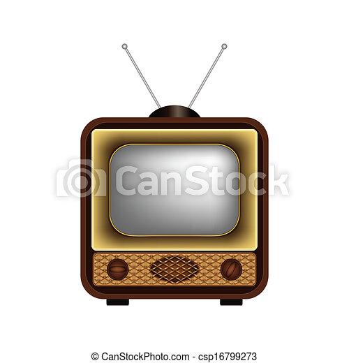 Retro TV on a white background - csp16799273