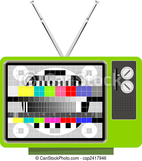 Retro TV set test pattern - csp2417946