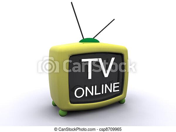 retro tv - csp8709965
