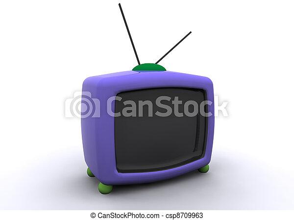 retro tv - csp8709963