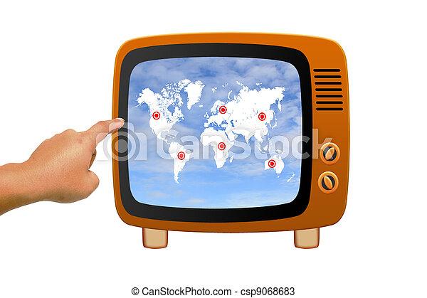 Retro tv - csp9068683