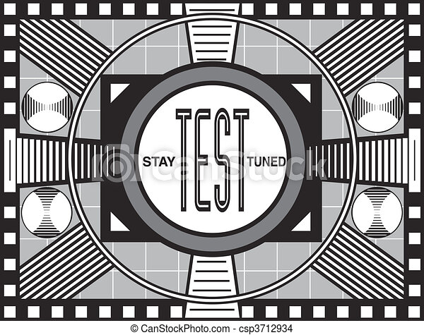 Retro TV Test Pattern - csp3712934