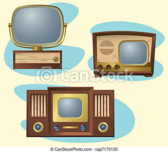 retro tvs a grouping of antique televisions