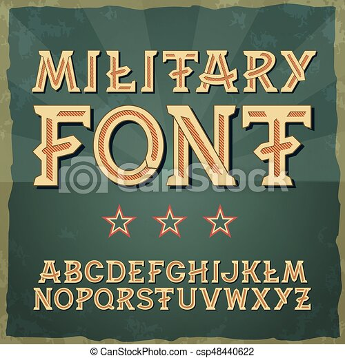 Retro Type Font Vintage Typography Alphabet Vector For Labels Titles