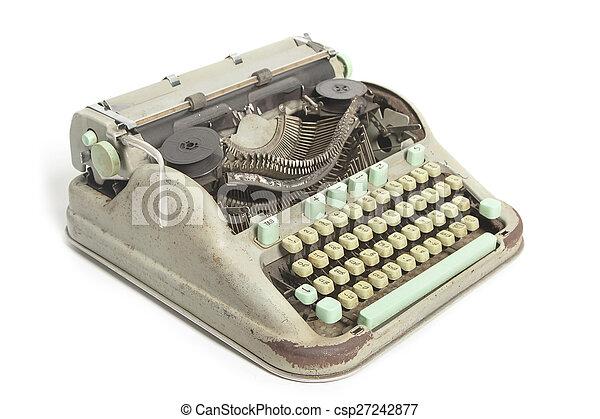 Retro typewriter isolated - csp27242877