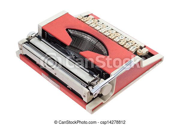 Retro typewriter - csp14278812