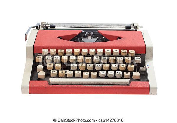 Retro typewriter - csp14278816