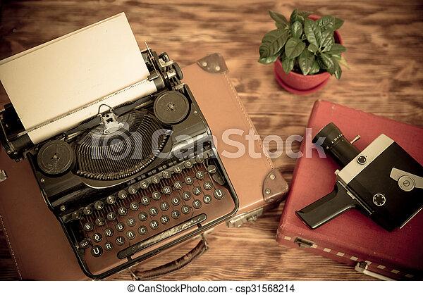 Retro typewriter - csp31568214