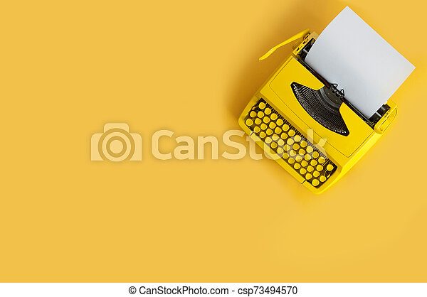 Retro typewriter - csp73494570