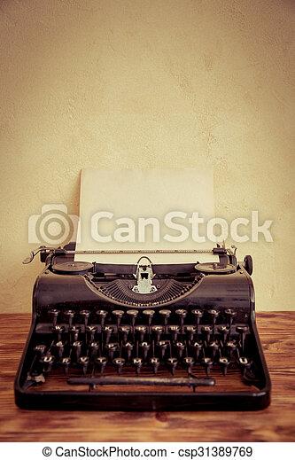 Retro typewriter - csp31389769