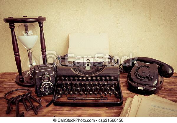 Retro typewriter - csp31568450