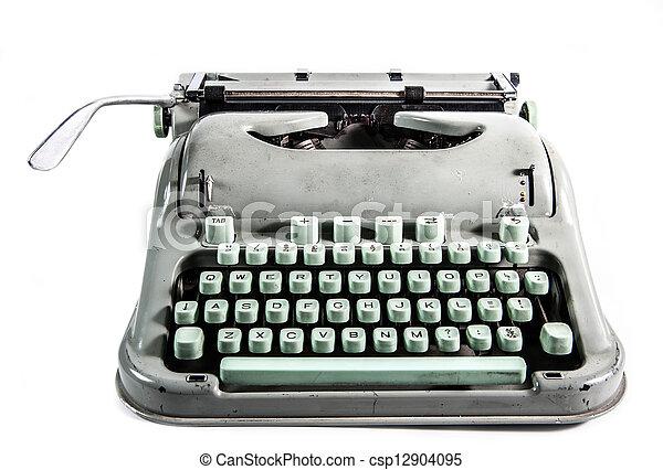 Retro typewriter - csp12904095