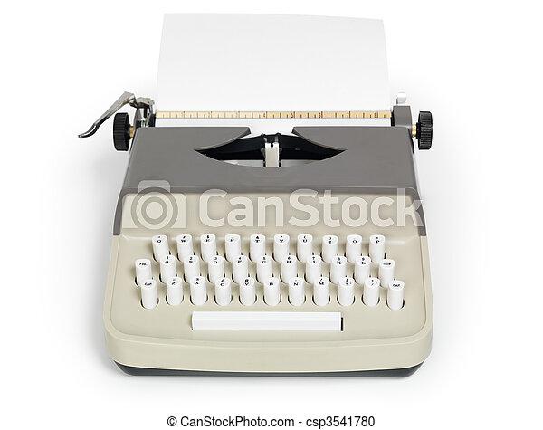 Retro Typewriter - csp3541780