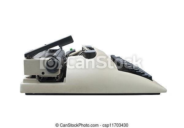 Retro typewriter - csp11703430