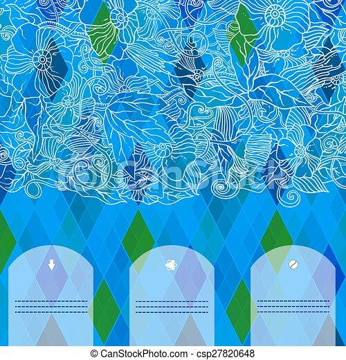 Retro vector pattern. Colorful mosaic banner. - csp27820648