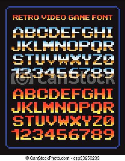 Retro video game font - csp33950203
