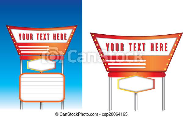 Retro vintage american style signs - csp20064165