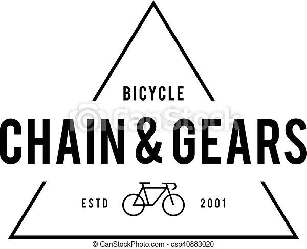 Retro Vintage Bicycle Label Design - csp40883020